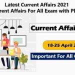Current Affairs 2021